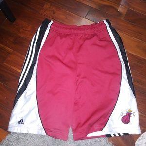 Miami Heat Adidas Basketball Shorts